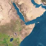 Carte satellite de la somalie